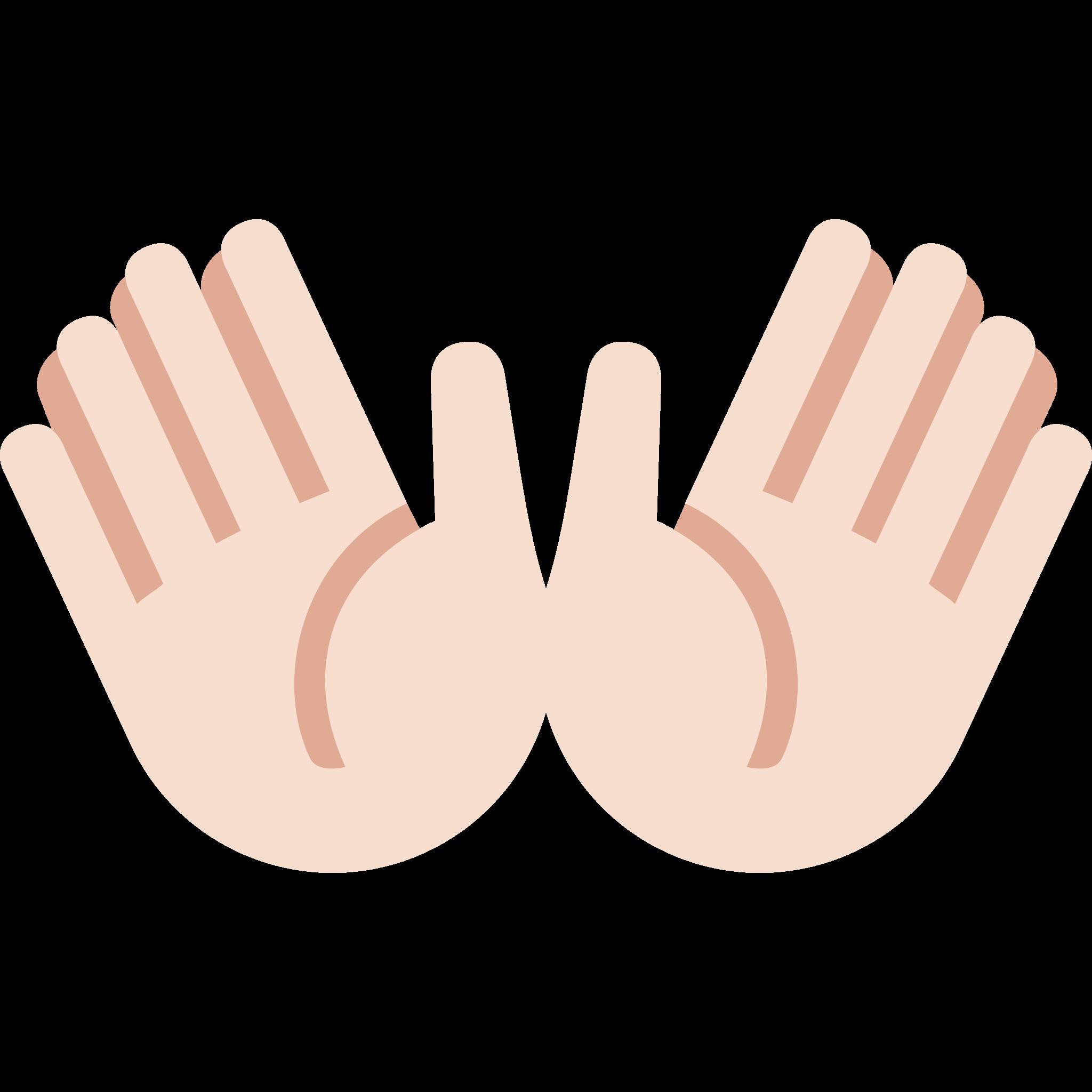 Open hands sign sticker