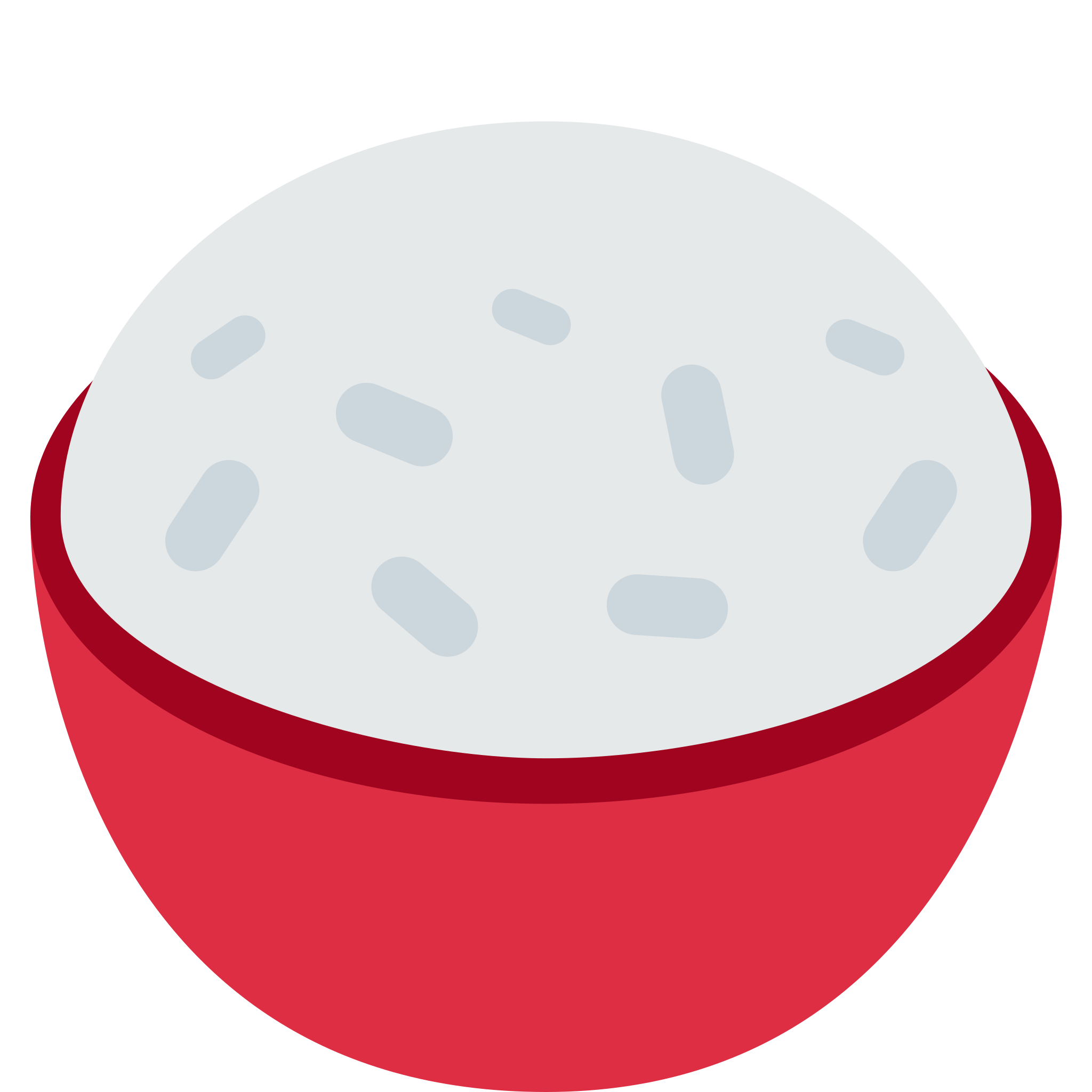 Cooked rice sticker