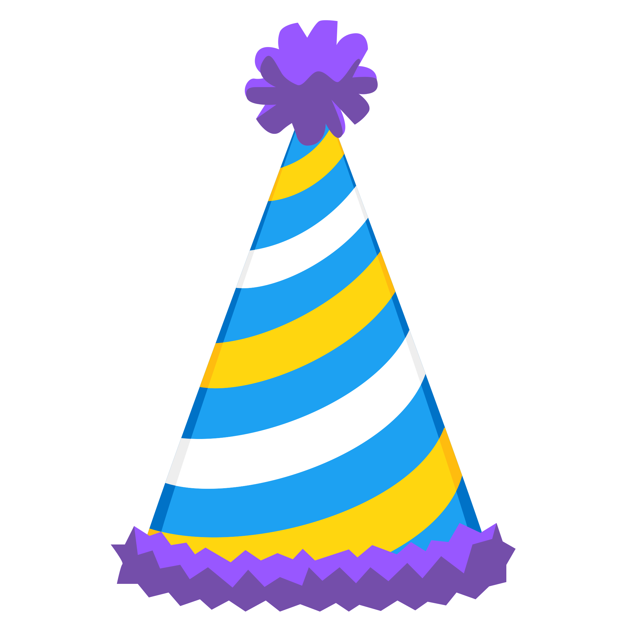 Sticker Timeline Birthday Hat